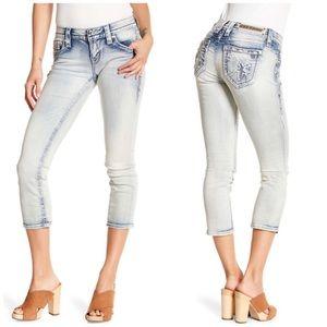 Rock Revival Nancy Cropped Jeans Skinny Size 24
